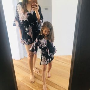 Mommy and daughter matching Flora romper